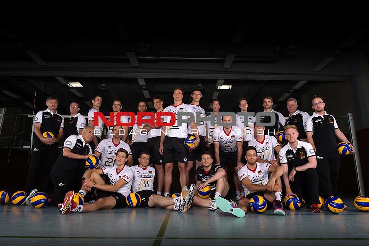 24.05.2015, Sportzentrum Westenfeld, Bochum<br /> Volleyball, Fotoshooting Nationalmannschaft Maenner<br /> <br /> Team Deutschland<br /> <br />   Foto &copy; nordphoto / Kurth