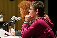 16. Rosa Luxemburg-Konferenz der linken Tageszeitung &quot;junge Welt&quot;.<br /> Am Samstag den 7. Januar 2011 veranstaltete die linke Tageszeitung &quot;junge Welt&quot; ihre traditionelle Rosa Luxemburg-Konferenz. Teilnehmerinnen bei der Abschlussdiskussion waren u.a die Parteivorsitzender der Linkspartei Die LINKE. Gesine Loetzsch; die Linkspartei-MdB Ulla Jelpke, die Vorsitzende der Deutschen Kommunistishen Partei DKP, Bettina Juergensen ; das ehemalige RAF-Mitglied Inge Viet (im Bild) und Katrin Dornheim, Betriebsratsvorsitzende bei der Deutschen Bahn AG in Berlin.<br /> 8.1.2011, Berlin<br /> Copyright: Christian-Ditsch.de<br /> [Inhaltsveraendernde Manipulation des Fotos nur nach ausdruecklicher Genehmigung des Fotografen. Vereinbarungen ueber Abtretung von Persoenlichkeitsrechten/Model Release der abgebildeten Person/Personen liegen nicht vor. NO MODEL RELEASE! Don't publish without copyright Christian-Ditsch.de, Veroeffentlichung nur mit Fotografennennung, sowie gegen Honorar, MwSt. und Beleg. Konto:, I N G - D i B a, IBAN DE58500105175400192269, BIC INGDDEFFXXX, Kontakt: post@christian-ditsch.de]