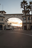 Crystal Pier Hotel in San Diego provides lodging on the pier overlooking Pacific Beach.