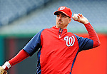 2 April 2011: Washington Nationals first baseman Adam LaRoche warms up prior to a game against the visiting Atlanta Braves at Nationals Park in Washington, District of Columbia. The Nationals defeated the Braves 6-3 in the second game of their season opening series. Mandatory Credit: Ed Wolfstein Photo