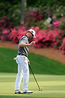 Zach Johnson (USA) on the 13th green during the 1st round at the The Masters , Augusta National, Augusta, Georgia, USA. 11/04/2019.<br /> Picture Fran Caffrey / Golffile.ie<br /> <br /> All photo usage must carry mandatory copyright credit (&copy; Golffile | Fran Caffrey)