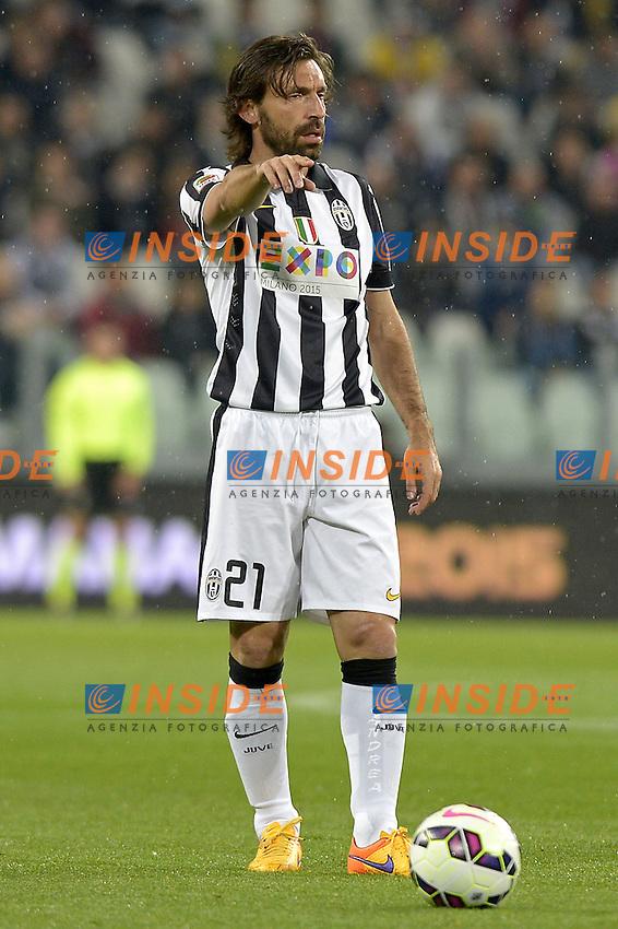 Andrea Pirlo Juventus,<br /> Torino 29-04-2015, Juventus Stadium, Football Calcio 2014/2015 Serie A, Juventus - Fiorentina, Foto Filippo Alfero/Insidefoto