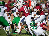 Stanford, CA - September 21, 2019: Dorian Maddox at Stanford Stadium. The Stanford Cardinal fell to the Oregon Ducks 21-6.