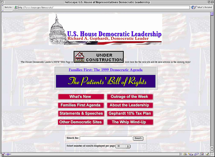 RC20000329-340-RR: March 28, 2000: http://www.house.gov/democrats/.   Rebecca Roth/Roll Call.