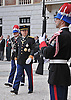 """PRINCE ALBERT .inspects the Guard of Honour in the courtyard of the Royal Palace, on the occasion of the National Day, Monte Carlo, Monaco_19/11/2012.Mandatory Credit Photos: ©NEWSPIX INTERNATIONAL..**ALL FEES PAYABLE TO: """"NEWSPIX INTERNATIONAL""""**..PHOTO CREDIT MANDATORY!!: NEWSPIX INTERNATIONAL(Failure to credit will incur a surcharge of 100% of reproduction fees)..IMMEDIATE CONFIRMATION OF USAGE REQUIRED:.Newspix International, 31 Chinnery Hill, Bishop's Stortford, ENGLAND CM23 3PS.Tel:+441279 324672  ; Fax: +441279656877.Mobile:  0777568 1153.e-mail: info@newspixinternational.co.uk"""