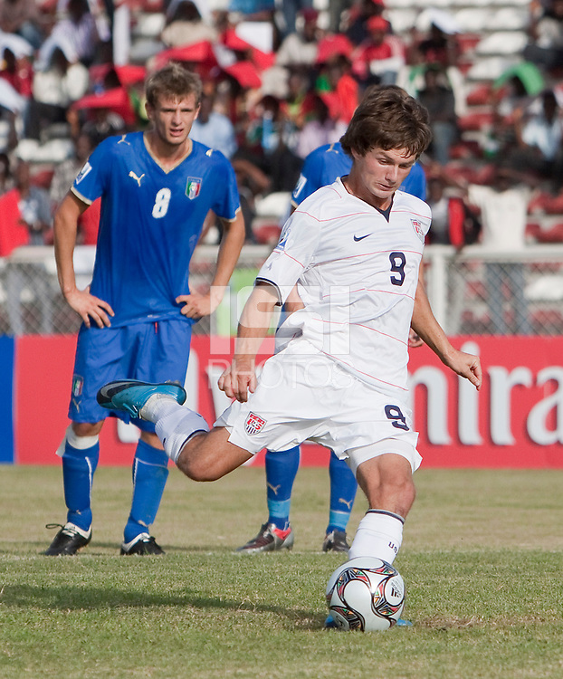 Jack McInerney. Italy defeated the US Under-17 Men's National Team 2-1 in Kaduna, Nigera on November 4th, 2009.