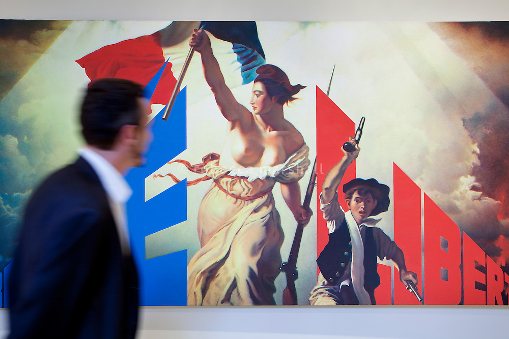 'Liberté II' by Erik Boulatov at a retrospective temporary exhibition of his work at the Nouveau Musée National de Monaco at Villa Paloma, Monaco, 5 July 2013