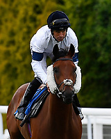 Prerogative ridden by Pat Dobbs go down to the start during Ladies Evening Racing at Salisbury Racecourse on 15th July 2017