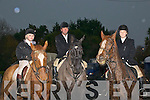 Hunt : Taking part in the North Kerry Harriers Hunt in Finuge on Sunday last were Kerry Harrison, Ted Scannell & Cait McEllistrim.