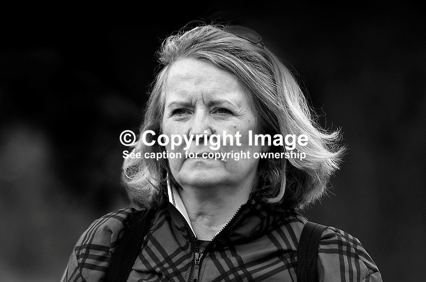 Mrs Pearl Hoey, wife of top N Ireland amateur golfer Brian Hoey, and mother of Michael Hoey, professional golfer, N Ireland, UK. Picture taken during first day of play at the Smurfit European Golf Championship at the K Club, Co Kildare, Rep of Ireland. Ref: 200207046017...Copyright Image from Victor Patterson, 54 Dorchester Park, Belfast, UK, BT9 6RJ..Tel: +44 28 9066 1296.Mob: +44 7802 353836.Voicemail +44 20 8816 7153.Skype: victorpattersonbelfast.Email: victorpatterson@mac.com.Email: victorpatterson@ireland.com (back-up)..IMPORTANT: If you wish to use this image or any other of my images please go to www.victorpatterson.com and click on the Terms & Conditions. Then contact me by email or phone with the reference number(s) of the image(s) concerned.