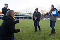 A general view of the marriage proposal at half-time. Aviva Premiership match, between Bath Rugby and Harlequins on November 25, 2017 at the Recreation Ground in Bath, England. Photo by: Patrick Khachfe / Onside Images
