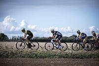 Christopher Juul Jensen (DEN/Mitchelton Scott), Bert De Backer (BEL/Vital Concept) and Piet Allegaert (BEL/Sport Vlaanderen Baloise) <br /> <br /> Antwerp Port Epic 2019 <br /> One Day Race: Antwerp > Antwerp 187km<br /> <br /> ©kramon