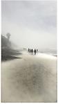 A foggy walk on the beach