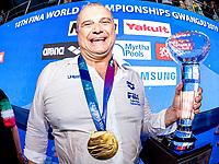 ITA - Italy Gold Medal Alessandro Campagna<br /> Gwangju South Korea 27/07/2019<br /> Waterpolo Spain v. Italy ESP - ITA Gold Final<br /> 18th FINA World Aquatics Championships<br /> Nambu University Grounds <br /> Photo © Giorgio Scala/ Deepbluemedia / Insidefoto