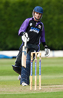 25 JUN 2009 - LOUGHBOROUGH,GBR - Paul Borrington (Loughborough UCCE) adds runs during the match against Derbyshire - UCCE Twenty 20 (PHOTO (C) NIGEL FARROW)