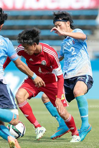 (L to R) <br /> Koya Yuruki (U-22 J.League), <br /> Mitsuki Watanabe (YS Yokohama), <br /> APRIL 29, 2015 - Football /Soccer : <br /> 2015 J3 League match <br /> between Y.S.C.C.Yokohama 0-0 U-22 J.League selection <br /> at NHK Spring Mitsuzawa Football Stadium, Kanagawa, Japan. <br /> (Photo by AFLO SPORT)