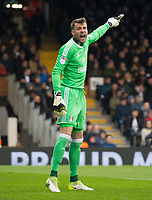Fulham's Marcus Bettinelli during the Sky Bet Championship match between Fulham and Queens Park Rangers at Craven Cottage, London, England on 17 March 2018. Photo by Andrew Aleksiejczuk / PRiME Media Images.