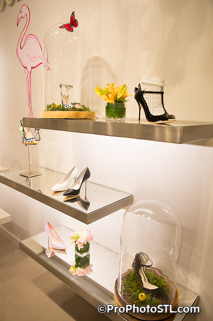 Shoe designer Sophia Webster at Saks Fifth Avenue in St. Louis, MO on March 11, 2014.