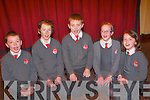 Listening to the  World-Renowned Cross Border Orchestra of Ireland  at the INEC on Thursday last were pupils from Dromclough National School. .L-R Mark Moore, David Quinlan, Aiden Moloney, Aisling Kelly and Ciara Finnerty. .