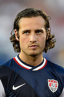 United States midfielder Mikkel Diskerud (8). The United States defeated Costa Rica 1-0 during a CONCACAF Gold Cup group B match at Rentschler Field in East Hartford, CT, on July 16, 2013.