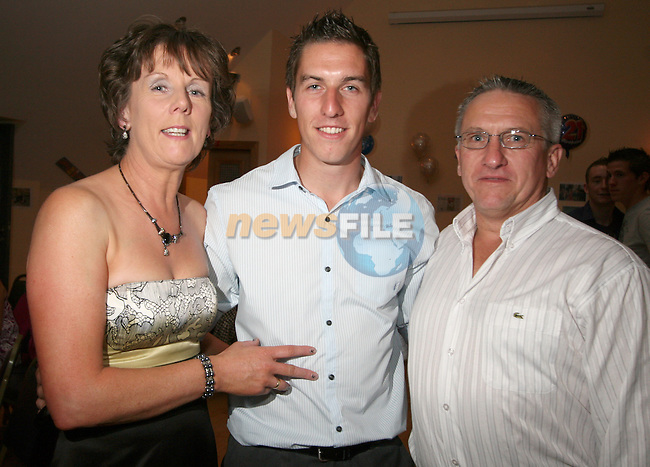 Padraig Rath with his parents Terry and Padraig at his Birthday in the Thatch...Photo NEWSFILE/Jenny Matthews.(Photo credit should read Jenny Matthews/NEWSFILE)....This Picture has been sent you under the condtions enclosed by:.Newsfile Ltd..The Studio,.Millmount Abbey,.Drogheda,.Co Meath..Ireland..Tel: +353(0)41-9871240.Fax: +353(0)41-9871260.GSM: +353(0)86-2500958.email: pictures@newsfile.ie.www.newsfile.ie.FTP: 193.120.102.198.