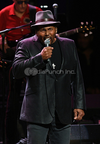 NEW YORK, NY - March 9 : Aaron Neville Performs on stage at 'Love Rocks NYC! A Change is Gonna Come: Celebrating Songs of Peace, Love and Hope' A Benefit Concert for God's Love We Deliver at Beacon Theatre on March 9, 2017 in New York City. @John Palmer / Media Punch
