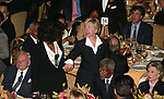 David Rockefeller, Oprah Winfrey, Kofi Annan and Hillary Clinton attends the United Nations Association of USA Global Leadership Dinner honoring Oprah Winfrey with the Global Humanitarian Action Award at the Waldorf Astoria Hotel in New York City.<br />
