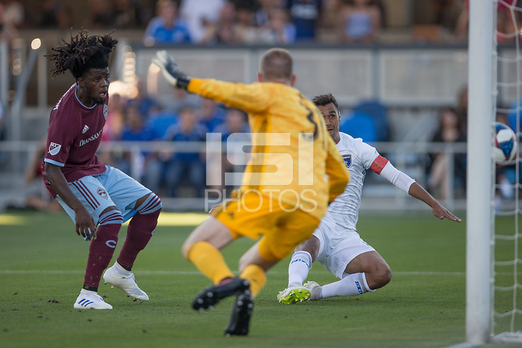 Santa Clara, CA - Saturday, July 27, 2019: San Jose Earthquakes defeated Colorado Rapids 3-1 at the Avaya Stadium in Santa Clara.