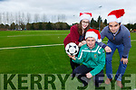 Castleisland AFC Chairman Patrick O'Rourke on their new Astro turf soccer pitch with Mairead Corridan and Aidan Joy at Castleisland Community College