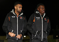 Blackpool's Curtis Tilt and Marc Bola <br /> <br /> Photographer Andrew Kearns/CameraSport<br /> <br /> The Emirates FA Cup Second Round - Solihull Moors v Blackpool - Friday 30th November 2018 - Damson Park - Solihull<br />  <br /> World Copyright © 2018 CameraSport. All rights reserved. 43 Linden Ave. Countesthorpe. Leicester. England. LE8 5PG - Tel: +44 (0) 116 277 4147 - admin@camerasport.com - www.camerasport.com