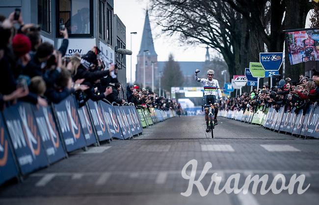 Mathieu van der Poel (NED/Corendon-Circus) wins his 3rd consecutive Azencross > Loenhout 2019 (BEL)<br />  <br /> ©kramon