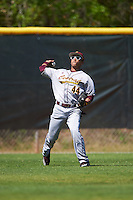 Central Michigan Chippewas outfielder David Cole (44) during practice before a game against the Boston College Eagles on March 3, 2017 at North Charlotte Regional Park in Port Charlotte, Florida.  Boston College defeated Central Michigan 5-4.  (Mike Janes/Four Seam Images)