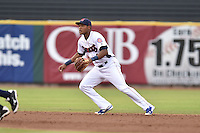 Tennessee Smokies shortstop Addison Russell #4 during a game against the Mississippi Braves at Smokies Park on July 21, 2014 in Kodak, Tennessee. The Braves defeated the Smokies 4-3. (Tony Farlow/Four Seam Images)
