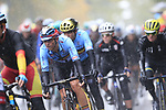 The lead group of riders including Dylan Theuns (BEL) tackle the 9 laps of the Harrogate circuit during the Men Elite Road Race of the UCI World Championships 2019 running 261km from Leeds to Harrogate, England. 29th September 2019.<br /> Picture: Eoin Clarke | Cyclefile<br /> <br /> All photos usage must carry mandatory copyright credit (© Cyclefile | Eoin Clarke)