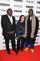 "Edward Enninful and Steve McQueen<br /> arriving for the ""Widows"" special screening in association with Vogue at the Tate Modern, London<br /> <br /> ©Ash Knotek  D3457  31/10/2018"