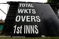 General view of the scoreboard ahead of Surrey CCC vs Essex CCC, Specsavers County Championship Division 1 Cricket at Guildford CC, The Sports Ground on 9th June 2017