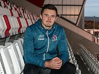 Monday 2nd December 2019 | Ulster Rugby Match Briefing<br /> <br /> Jacob Stockdale at the Match Briefing held at Kingspan Stadium, Belfast ahead of the Heineken Champions Cup Round 3 clash against Harlequins at Kingspan Stadium, Belfast, on Saturday 6th December 2019. Photo by John Dickson / DICKSONDIGITAL