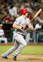 Jay Bruce / Cincinnati Reds playing against the Arizona Diamondbacks at Chase Field, Phoenix, AZ - 09/12/2008..Photo by:  Bill Mitchell/Four Seam Images