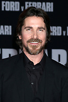 """LOS ANGELES - NOV 4:  Christian Bale at the """"Ford v Ferrari"""" Premiere at TCL Chinese Theater IMAX on November 4, 2019 in Los Angeles, CA"""