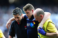 Mark Bennett of Scotland is helped off the field. RBS Six Nations match between England and Scotland on March 11, 2017 at Twickenham Stadium in London, England. Photo by: Patrick Khachfe / Onside Images