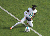 Wide receiver Allen Hurns (17) of the Miami Dolphins macht sich warm - 08.12.2019: New York Jets vs. Miami Dolphins, MetLife Stadium New York