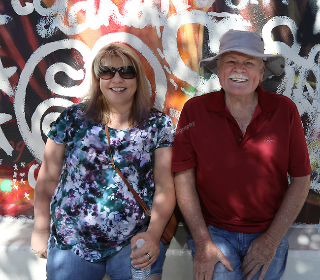 Deanna and Duane during the Reno Rodeo Parade on Saturday, June 22, 2019.