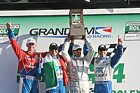 30 January 2011: Memo Rojas, Graham Rahal, Joey Hand and Scott Pruett celebrate in victory lane, Rolex 24 at Daytona, Daytona International Speedway, Daytona Beach, FL (Photo by Brian Cleary/www.bcpix.com)