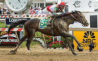 BALTIMORE, MD - MAY 20: No Mo Dough  #5, ridden by Jose Ortiz, wins the LARC Sir Baron Stakes on Preakness Stakes Day at Pimlico Race Course on May 20, 2017 in Baltimore, Maryland.(Photo by Sue Kawczynski/Eclipse Sportswire/Getty Images)