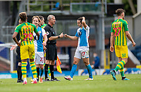 11th July 2020; Ewood Park, Blackburn, Lancashire, England; English Football League Championship Football, Blackburn Rovers versus West Bromwich Albion; Players and officials fist pump after the 1-1 draw at Ewood Park