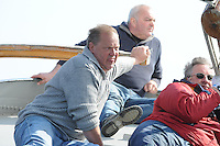 SKUTSJESILEN: LANGWEER: Langwarder Wielen, 13-04-2013, Skûtsjesilen Langwar, Ulbe Zwaga (schipper Oude Zeug | Langweer), ©foto Martin de Jong