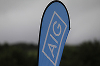AIG teardrop at the 1st tee during the Final of the Barton Shield in the AIG Cups & Shields Connacht Finals 2019 in Westport Golf Club, Westport, Co. Mayo on Saturday 10th August 2019.<br /> <br /> Picture:  Thos Caffrey / www.golffile.ie<br /> <br /> All photos usage must carry mandatory copyright credit (© Golffile | Thos Caffrey)