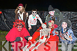 Richard Cotter, Darragh Lynch, Dylan Dunne-Moriarty, Jimmy Culnane and Ellen Lynch Knocknagoshel ready to spook at the Knocknagoshel Halloween celebrations on Sunday night..............