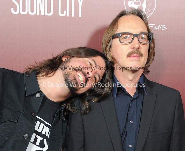 Gave Grohl and Butch Vig at The L.A.Premiere of Sound City held at The Cinerama Dome in Hollywood, California on January 31,2013                                                                   Copyright 2013 Hollywood Press Agency
