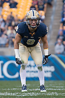 Pitt safety Roy Vinopal. The North Carolina Tar Heels defeated the Pitt Panthers 34-27 at Heinz Field, Pittsburgh Pennsylvania on November 16, 2013.